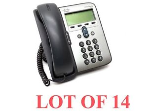 Lot 14 Cisco Cp 7906 Display Business Office Phone Voip Ip Telephone Handset