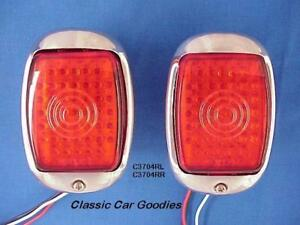 1937 1938 Chevy Led Tail Lights Stainless Steel Housings 2