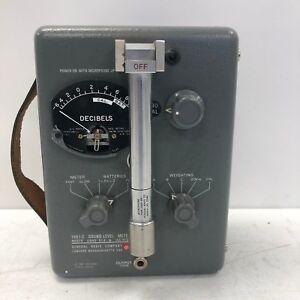 Vintage General Radio 1551 c Sound level Meter Tested And Working