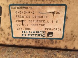 Reliance Electric 0 54349 2 Phase Sequencer L s Supply Monitor New 54349 2