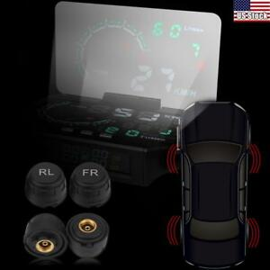 Tire Pressure Monitor System Hud Head Up Display Speed Warning Obd2 Interfaceset