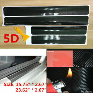 Car Accessories Carbon Fiber Auto Door Plate Cover Anti Scratch Sticker 3cmx1m