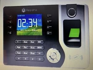 Realand 2 4 Biometric Fingerprint Time Attendance Machine Time Clock A c071 Ub