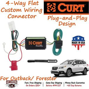56040 Curt 4 way Flat Trailer Wiring Connector Harness Fits Forester Outback