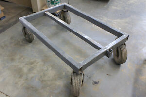 Heavy Duty Metal Cart With Pneumatic Casters