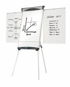 Quartet Gloss finish Steel Dry Erase Board Easel Mounted Portable carry 39 h