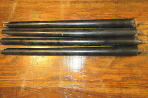 Set Of 4 Vintage 19 5 Black Wooden Table Legs Re Purpose Upcycle