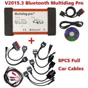 V2015 03 Bluetooth Multidiag Pro for Cars truck Obd2 8pcs Cables Diagnostic Kit