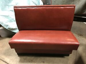 Restaurant Booth Set Of 2 Vintage Leather Cafe Booths Burgundy Booths