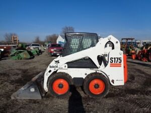 2004 Bobcat S175 Skid Steer Cab heat Sticks pedals Only 322 Hours
