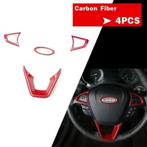 For Ford Fusion Mondeo 13 18 Rd Carbon Fiber Abs Inner Steering Wheel Cover Trim