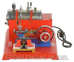Steam Engine Live Model Working W Dynamo Electric Boiler Horizontal Piston 220v