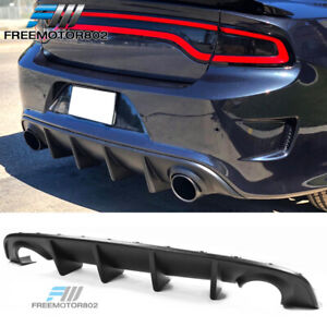 Fits 15 19 Dodge Charger Srt Factory Style Rear Diffuser Bumper Lip Unpainted Pp