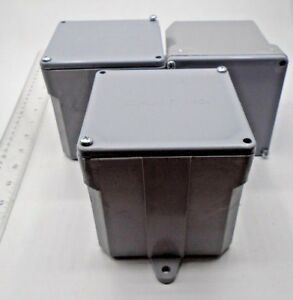 Cantrex Electrical Box 4 5 X 4 5 5133709 Pvc Grey Lot Of 3 New 45