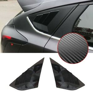 Carbon Fiber Abs Window Side Louvers Vent For Ford Focus St Rs Mk3 Hatchback New