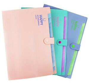 Expanding File Folder 12 Tab Positions Letter Size Organizer Office educational