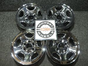 Silverado 1500 Sierra Tahoe Yukon 16 Factory Oe Chrome Steel Wheels 6 Lug Great