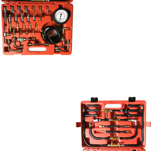 Universal Deluxe Manometer Fuel Injection Pressure Tester Gauge Kit 0 10bar
