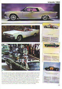 1963 Lincoln Continental Article Must See Convertible John F Kennedy