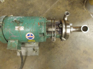 Tri clover Sanitary Stainless Steel Pump 2 X 1 1 2 C216md21t s 10 Hp