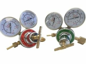 Replacement Regulator Gauge Set For Victor Type Style Gas Welder Outfit Welding