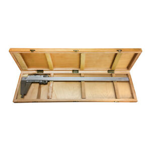12 Inch 300mm Inch Metric Included Wooden Case Heavy Duty Vernier Caliper Ruler