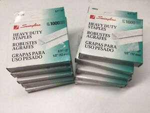 Swingline S f 13 Heavy Duty 1 2 Staples 1000 Per Box Lot Of 10 Boxes