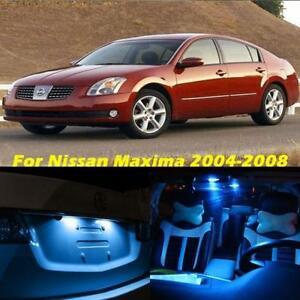 13x Ice Blue Led Interior Light Package Kit For 2004 2008 Nissan Maxima