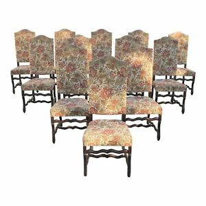12 French Louis Xiii Style Os De Mouton Dining Chairs 1900 Th Century