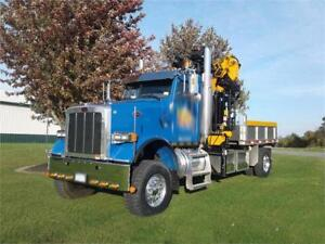 Hurricane tree truss crane 2008 6x6 Peterbilt Dump W 89 Reach Effer 210