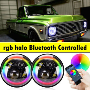 Multi color Led Angel Eyes Kit Rgb Halo Ring Light For Dodge W100 W150 W200 W250