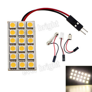50pcs 5050 18smd Led T10 Ba9s Festoon Dome Car Interior Reading Panel Light 12v