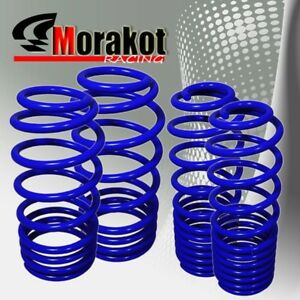 Jdm Sport 05 10 Ford Mustang Suspension Drop 4pc Lower Lowering Spring Kit Blue