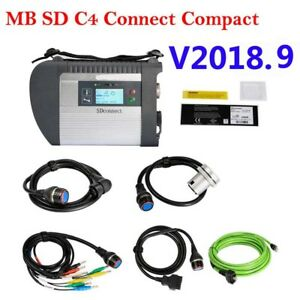 V2018 9 Mb Sd C4 Connect Compact 4 Star Wifi Diagnostic Tool For Cars Trucks