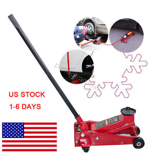 Usa 3 Tons Lifter Floor Jack Vehicle Car Garage Auto Small Hydraulic Lift Red