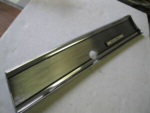 1967 67 Chevelle El Camino Ss Chrome Glove Box Dash Cover