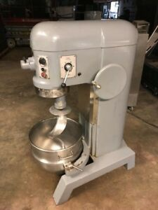 Hobart H 600t 60 Quart Dough Mixer Bakery Bread Pizza very Nice Unit Used