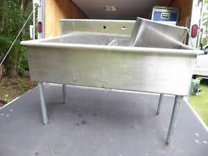 Stainless Steel Double Sink Prep Kitchen Table 24 x48 Never Used Great Item