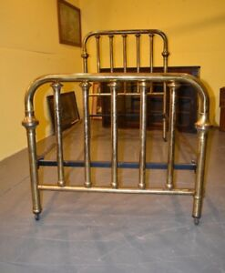 Steam Punk Victorian Antique Brass Single Twin Size Bed Vintage Furniture