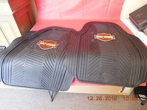 Harley Davidson Floor Mats For Front And Back Used