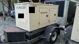 Generac 15 Kw Portable Diesel Generator 1 645 Hours Ready To Go