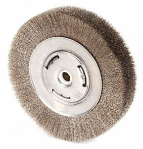 6 Crimped Wire Wheel Brush Arbor Hole Mounting 0 006 Wire Dia 1 1 8