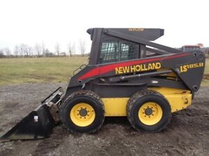 2005 New Holland Ls185 b Skid Steer Cab heat air High Flow 3 634 Hours