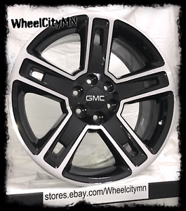24 Inch Gloss Black 2015 Chevy Silverado Ltz Oe Replica Wheels Fits Gmc Denali
