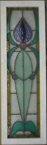 Large Old English Leaded Stained Glass Window Nice Bordered Pastels 13 X 41 75