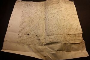 1488 Large Parchment Transfer Of Land Fief Of Sache Signed Touraine Balzac