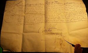 King Louis Xiv Autograph On Parchment With Wax Seal 1702
