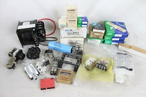 Huge New Electrical Component Lot Square D Transformer Mallory Capacitor Fuse