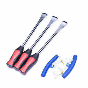 3 Pcs Tire Lever Tool Spoon Motorcycle Bike Tire Change 2x Blue Protectors Kit