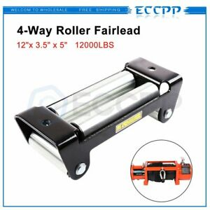 Eccpp Heavy Duty Winch Roller Fairlead 10 Universal 4 Way Roller Cable Guide